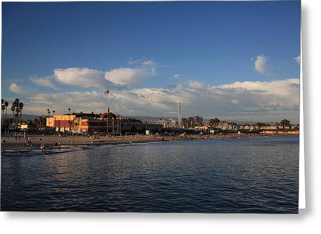 Summer Evenings in Santa Cruz Greeting Card by Laurie Search