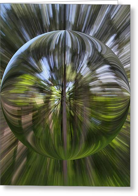 Warp Greeting Cards - Summer Explosion Orb Greeting Card by Dan Sproul