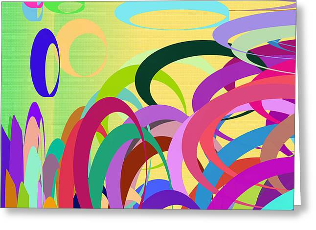 Purple Abstract Greeting Cards - Summer festival Greeting Card by Gaspar Avila