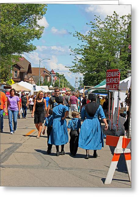 Indiana Scenes Greeting Cards - Summer Festival in Berne Indiana Greeting Card by Suzanne Gaff