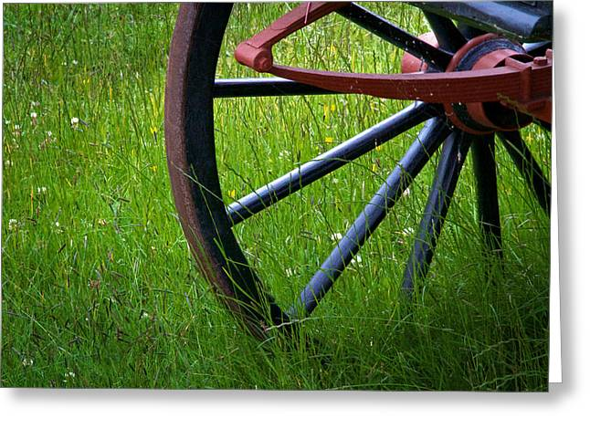 Spokes Greeting Cards - Summer Field Greeting Card by Odd Jeppesen