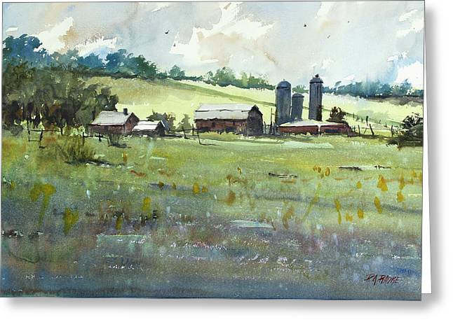 Silo Greeting Cards - Summer Fields Greeting Card by Ryan Radke