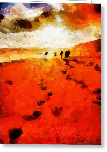 Summer Fire Tnm Greeting Card by Vincent DiNovici