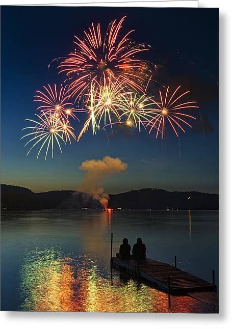 Summer Fireworks Greeting Card by Darylann Leonard Photography