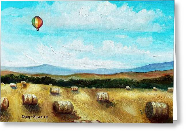 Maine Farms Paintings Greeting Cards - Summer Flight 3 Greeting Card by Shana Rowe