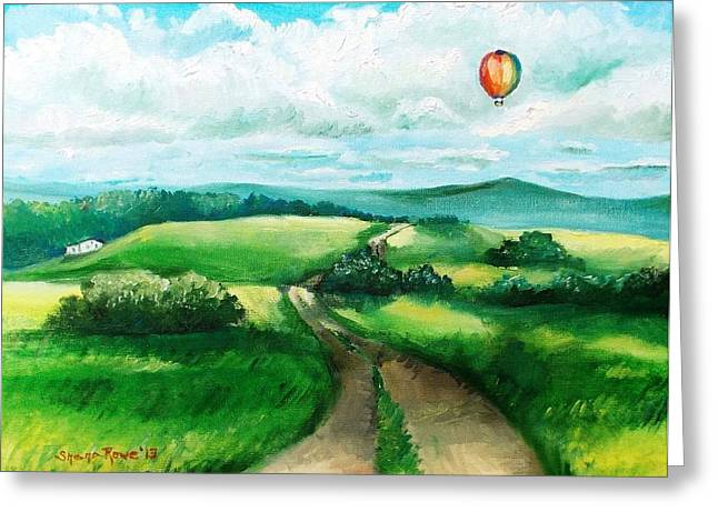 Mound Paintings Greeting Cards - Summer Flight Greeting Card by Shana Rowe