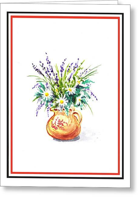 Summer Flowers Bouquet  Greeting Card by Irina Sztukowski