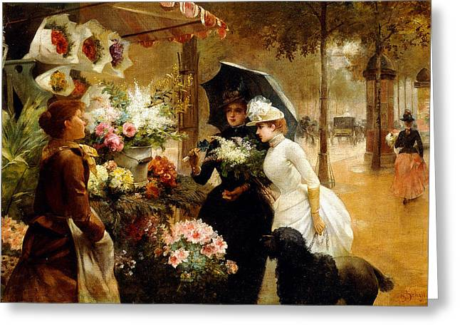 In Bloom Greeting Cards - Summer Flowers Greeting Card by Louis de Schryver