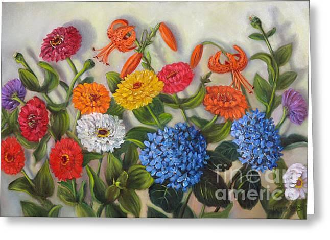 Summer Flowers Greeting Card by Randol Burns