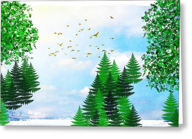 Summer Four Seasons Art Series Greeting Card by Christina Rollo