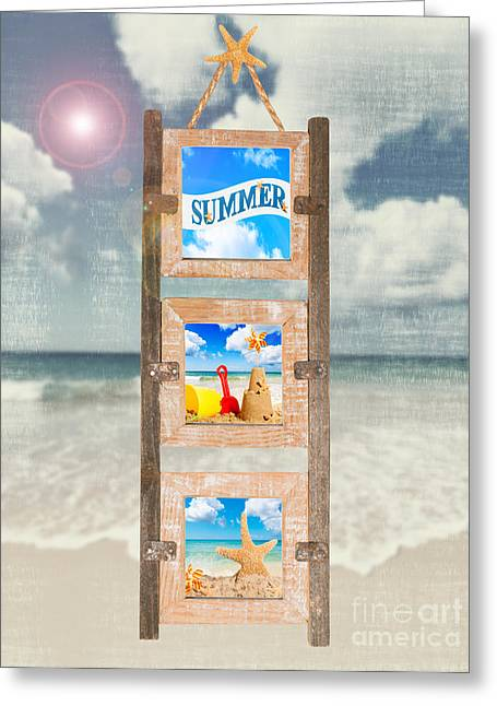 Sandcastle Greeting Cards - Summer Frame Greeting Card by Amanda And Christopher Elwell