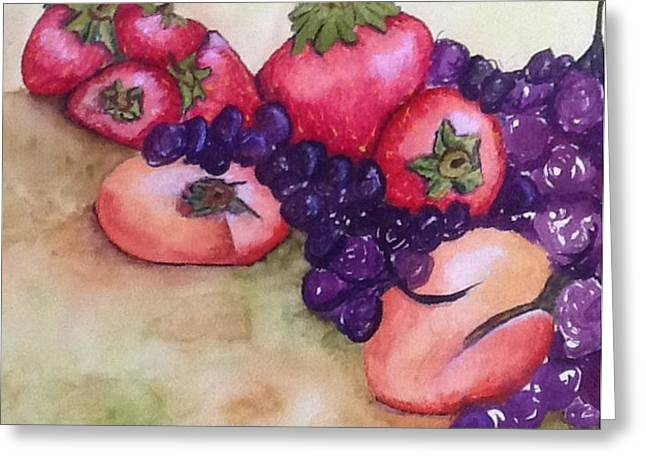 Mary King Greeting Cards - Summer fruits Greeting Card by Mary King
