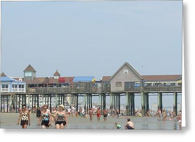 Maine Beach Greeting Cards - Summer fun in Maine Greeting Card by Paula Wright