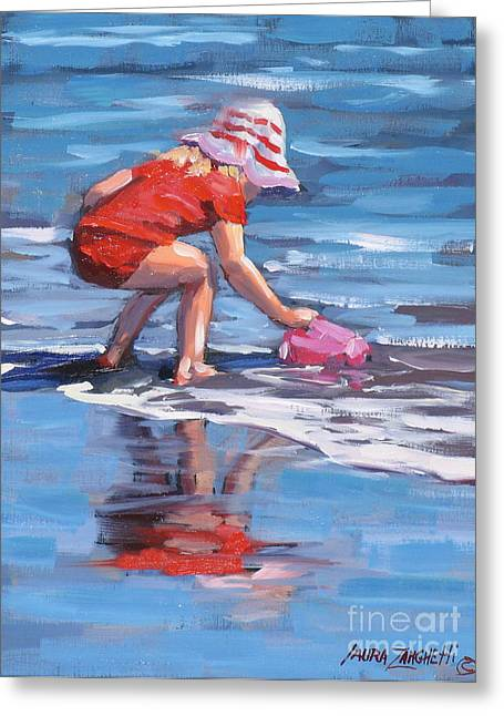 Best Sellers -  - Reflection In Water Greeting Cards - Summer Fun Greeting Card by Laura Lee Zanghetti