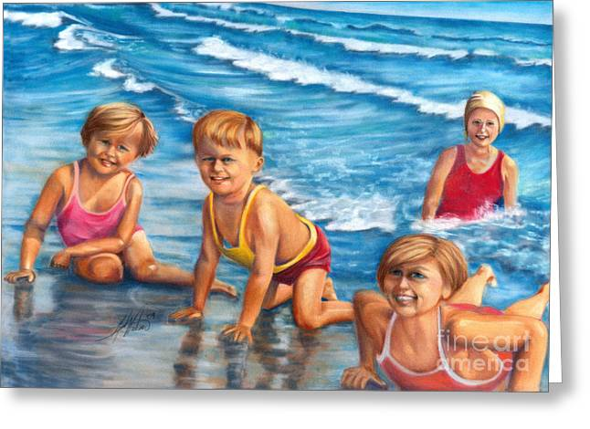 Suit Pastels Greeting Cards - Summer Fun Greeting Card by Leah Wiedemer