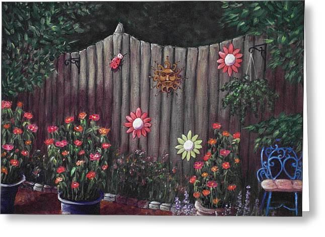 Office Plants Drawings Greeting Cards - Summer Garden Greeting Card by Anastasiya Malakhova