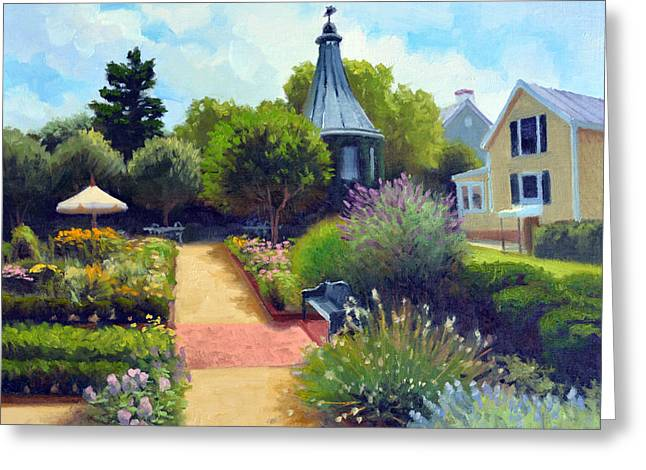 5 Star Greeting Cards - Summer Garden Greeting Card by Armand Cabrera