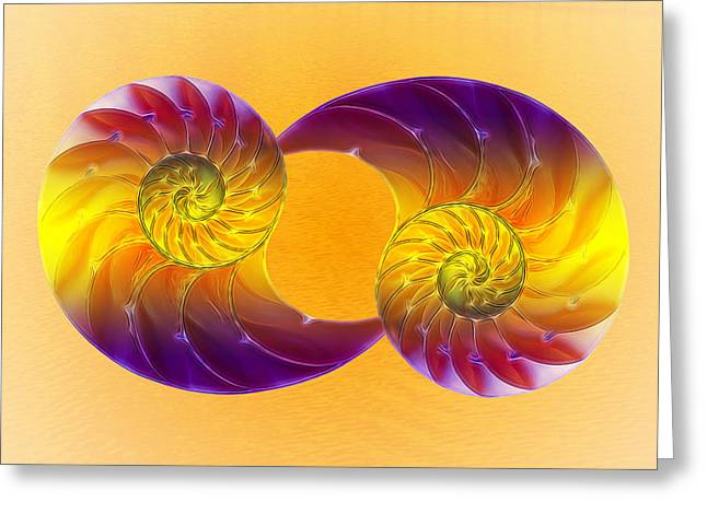 Surreal Geometric Greeting Cards - Summer Glow Greeting Card by Gill Billington