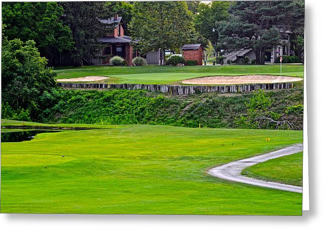 Augusta National Golf Greeting Cards - Summer Golf Greeting Card by Frozen in Time Fine Art Photography