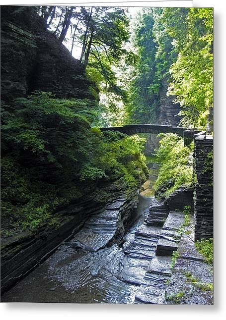 Stream Digital Greeting Cards - Summer Gorge Greeting Card by Jessica Jenney