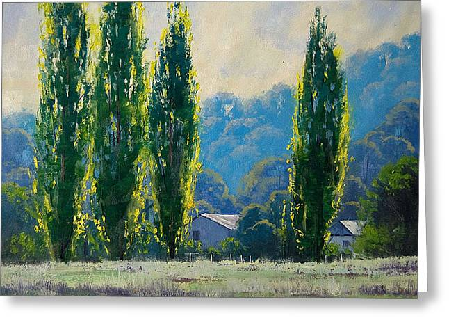 Shed Paintings Greeting Cards - Summer Greens Greeting Card by Graham Gercken