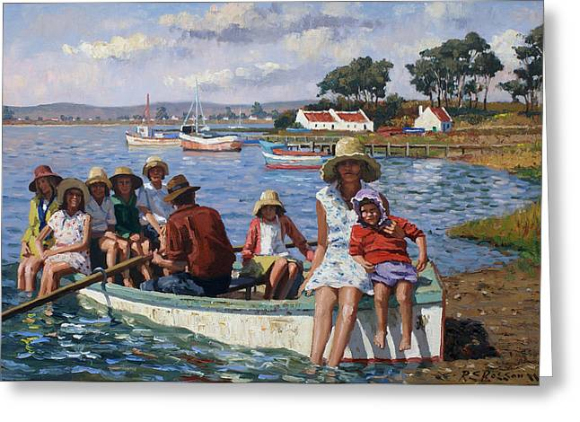 Summer Hats Greeting Card by Roelof Rossouw