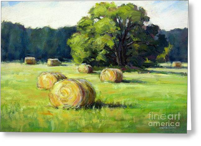 Summer Hay Greeting Card by Vickie Fears