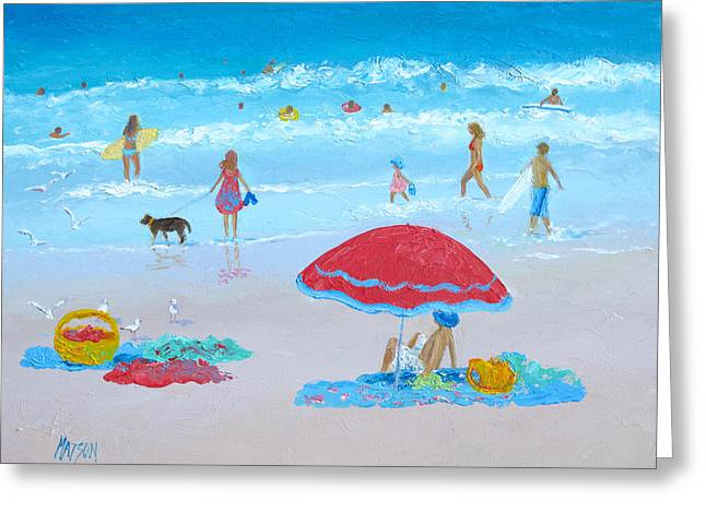 Beach Decor Posters Greeting Cards - Summer Heat Greeting Card by Jan Matson