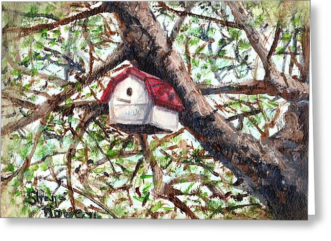 Maine Spring Paintings Greeting Cards - Summer Home Greeting Card by Shana Rowe