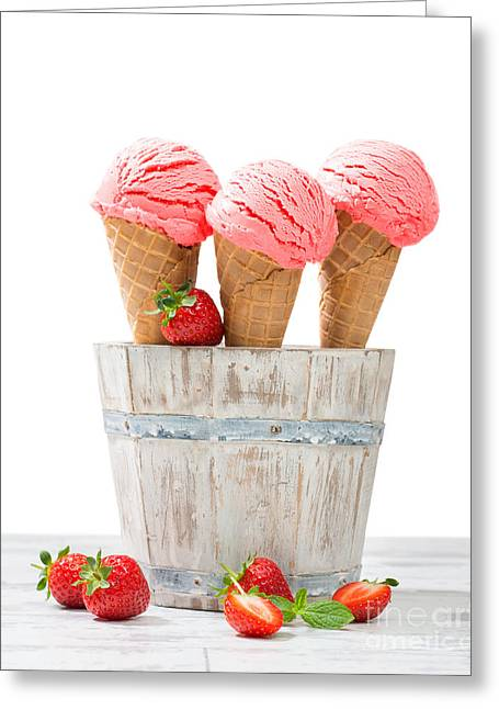 Strawberry Greeting Cards - Summer Icecreams Greeting Card by Amanda And Christopher Elwell