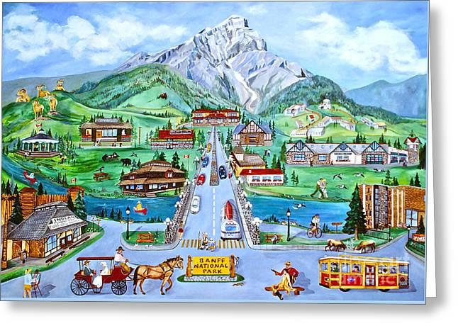 Summer In Banff Greeting Card by Virginia Ann Hemingson