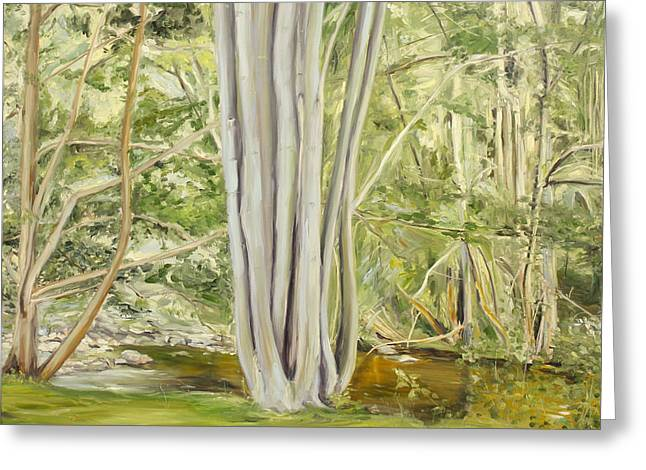 Trees Reflecting In Water Greeting Cards - Summer in Blankenstein X Greeting Card by Rafal Tomasz Urbaniak