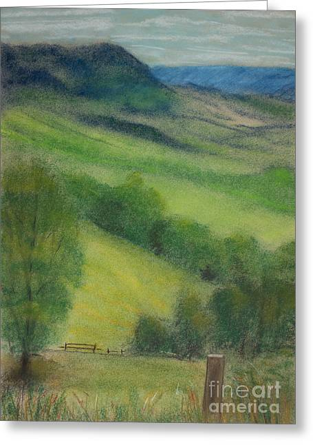 Peaceful Scenery Pastels Greeting Cards - Summer in England Greeting Card by Ewa Hearfield