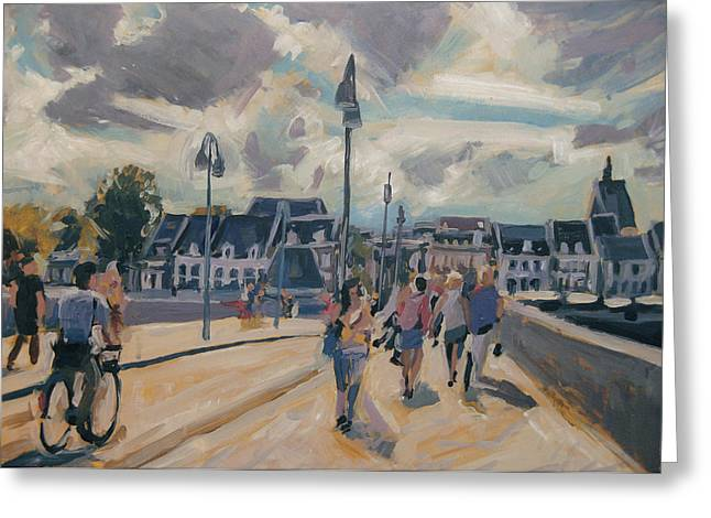 Limburg Paintings Greeting Cards - Summer in Maastricht Greeting Card by Nop Briex