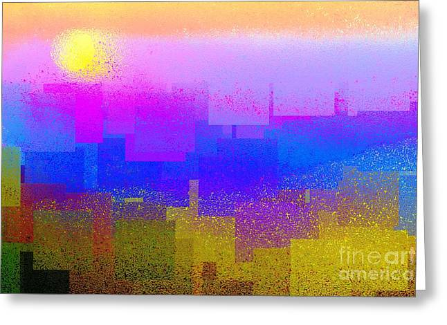 Deconstructed Greeting Cards - Summer in the City Greeting Card by Dale   Ford