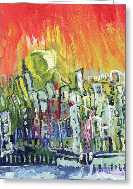 Summer In The City Greeting Card by Kim Chigi