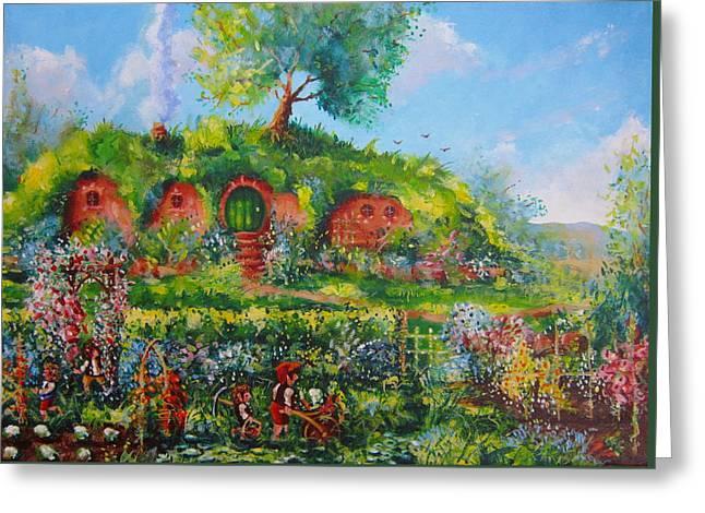 Summer In The Shire Greeting Card by Joe  Gilronan