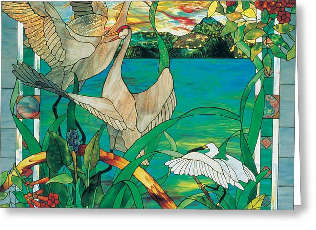 Landscape Glass Greeting Cards - Summer Greeting Card by John Emery