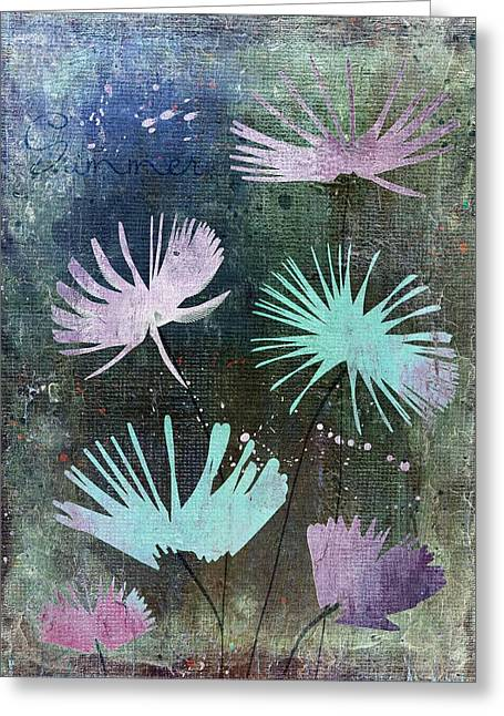 Texture Floral Digital Greeting Cards - Summer Joy - 28at2 Greeting Card by Variance Collections