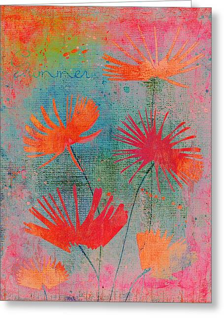 Texture Floral Digital Greeting Cards - Summer Joy - 44bb Greeting Card by Variance Collections