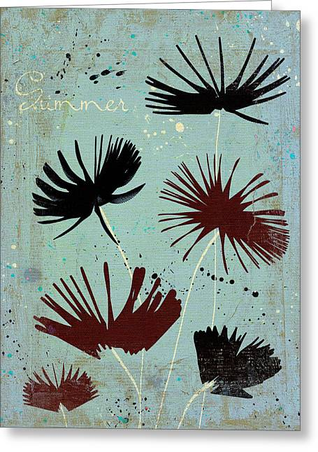 Texture Flower Greeting Cards - Summer Joy - 91bb Greeting Card by Variance Collections