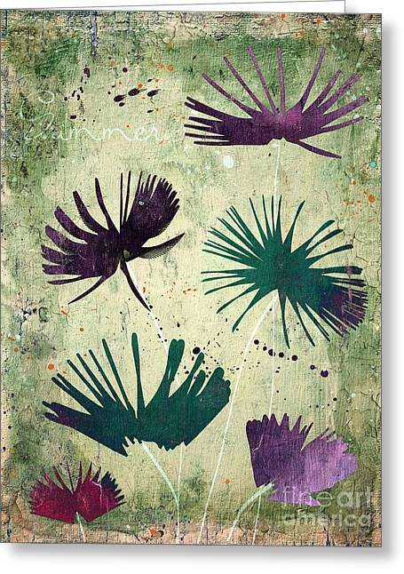 Purple Floral Greeting Cards - Summer Joy - s18cc Greeting Card by Variance Collections