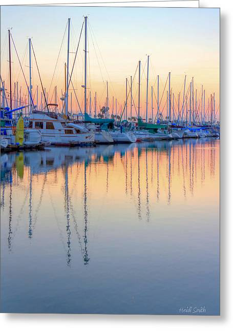 Yellow Sailboats Photographs Greeting Cards - Summer Light Greeting Card by Heidi Smith