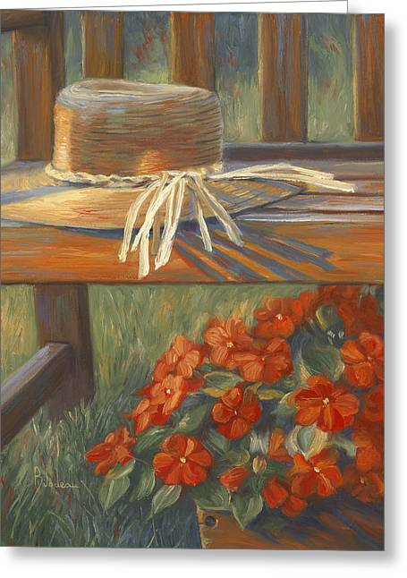 Impatiens Flowers Greeting Cards - Summer Light Greeting Card by Lucie Bilodeau