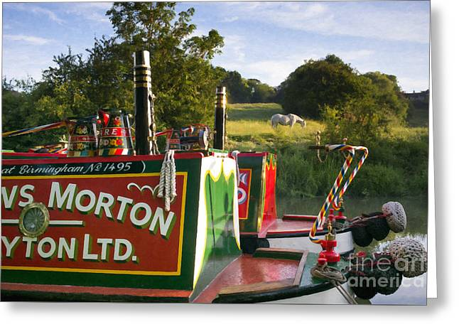 Summer Light On The Grand Union Canal Greeting Card by Tim Gainey