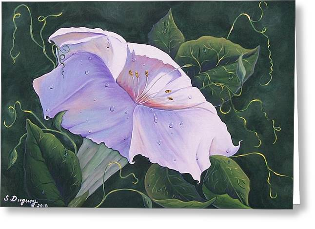 Fushia Paintings Greeting Cards - Summer Lily Greeting Card by Sharon Duguay