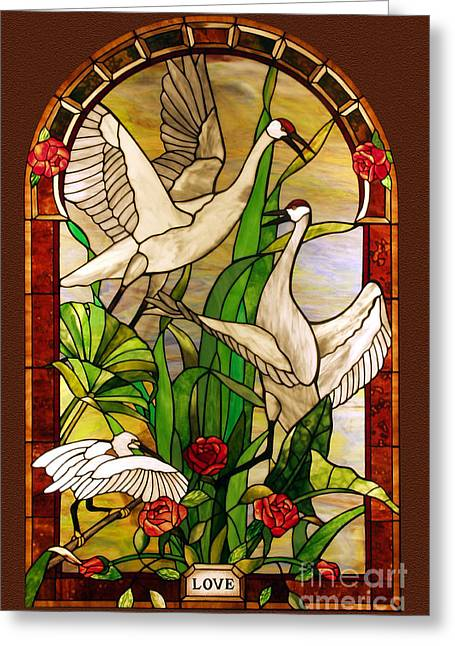 Animals Glass Art Greeting Cards - Summer-Love Greeting Card by John Emery