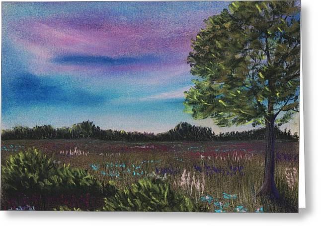Blue Pastels Greeting Cards - Summer Meadow Greeting Card by Anastasiya Malakhova
