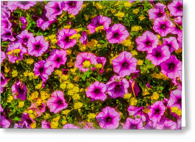 Summer Tapestries - Textiles Greeting Cards - Summer Medley Greeting Card by Dennis Bucklin