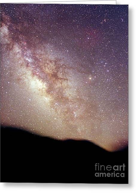 Constellations Greeting Cards - Summer Milky Way Greeting Card by Chris Cook